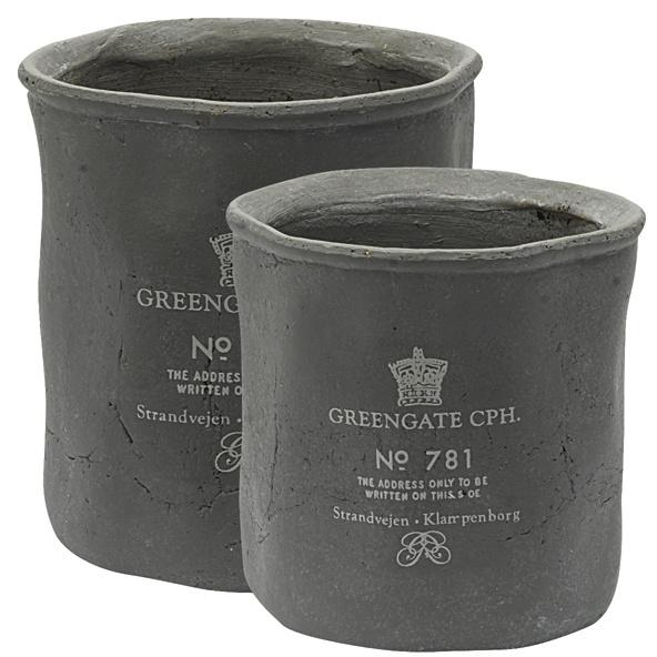 Kruka, Crown grey - GreenGate  Liten 49kr, Stor 109kr