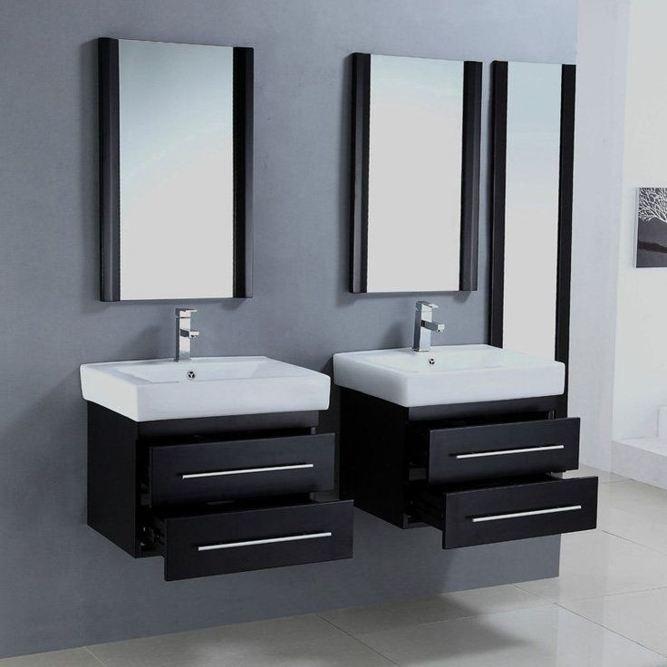 Legion Furniture Winkler Set Of Two 24 in. Single Bathroom Vanities with Optional Mirrors | from hayneedle.com