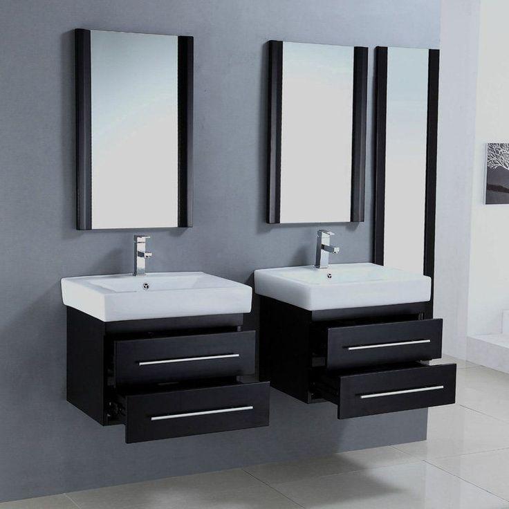 Legion Furniture Winkler Set Of Two 24 in. Single Bathroom Vanities with Optional Mirrors | from hayneedle.com
