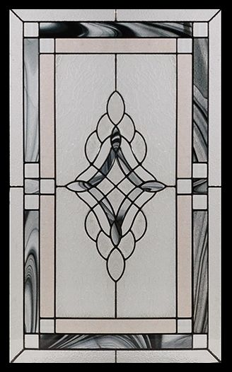 Stained Glass Door Inserts - Rosetta 22x36