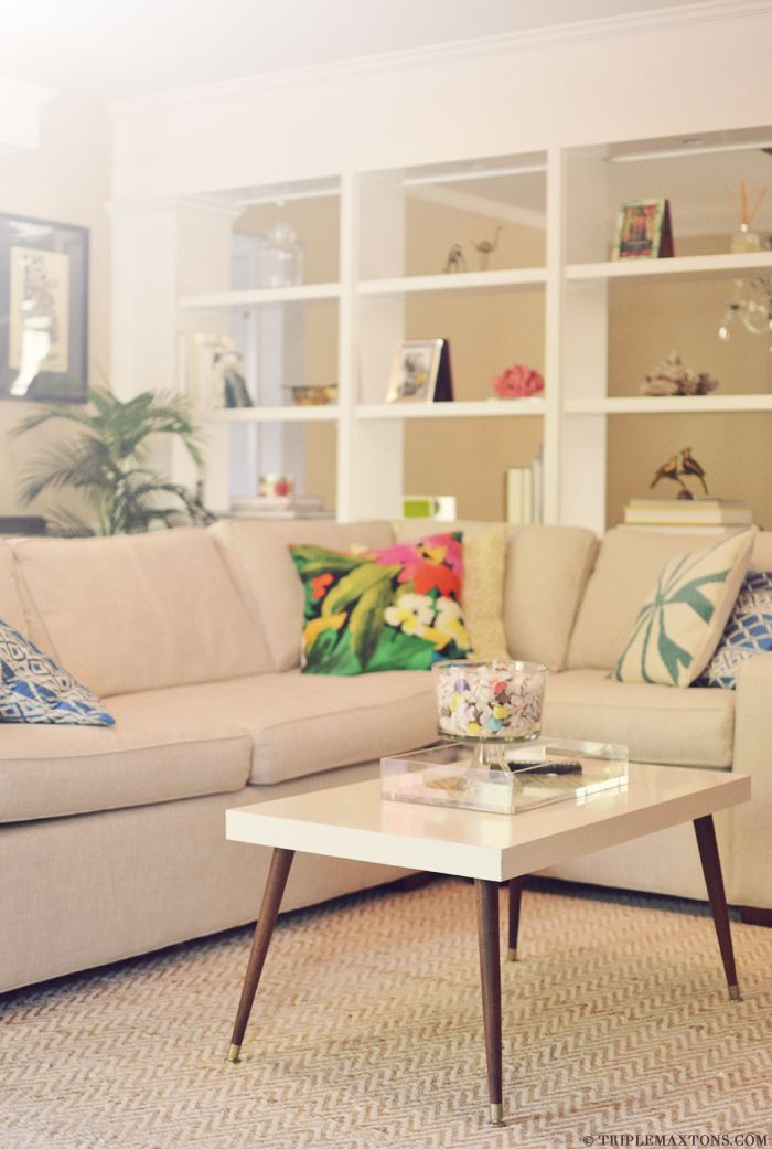 Top 10 IKEA Hacks- Tutorials, including this mid century coffee table from Triple Max Tons!