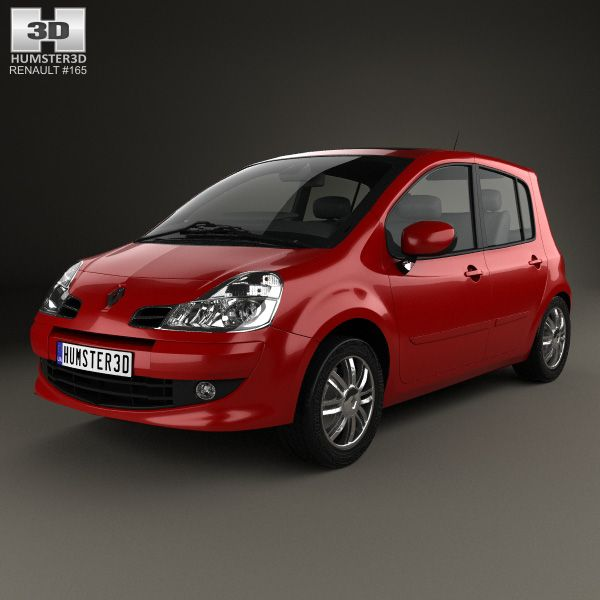 Renault Modus 2008 3d model from Humster3D.com.