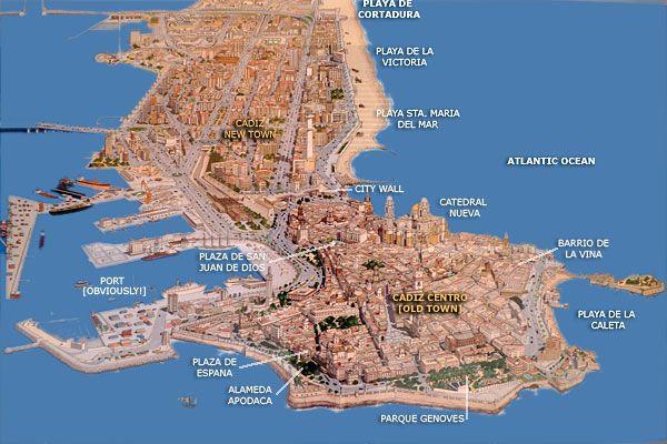 cool map of Cadiz, Spain