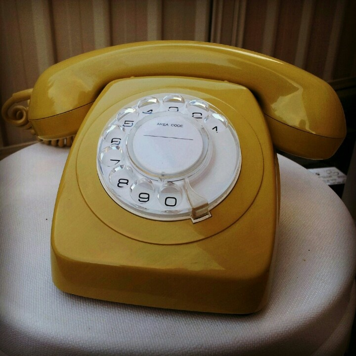 Retro rotary telephone PNG telecom Australia 1970s. I didn't have a home phone until I was 24 - and it looked just like this