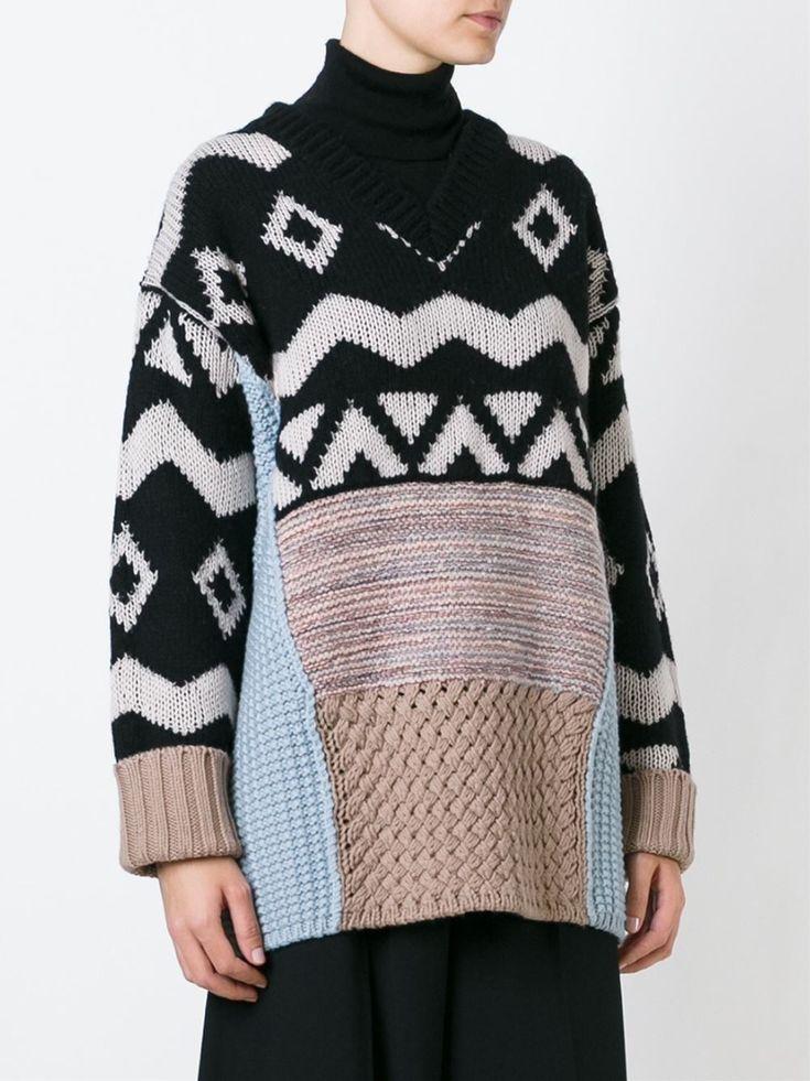 Antonio Marras Contrast Knit Sweater - O' - Farfetch.com