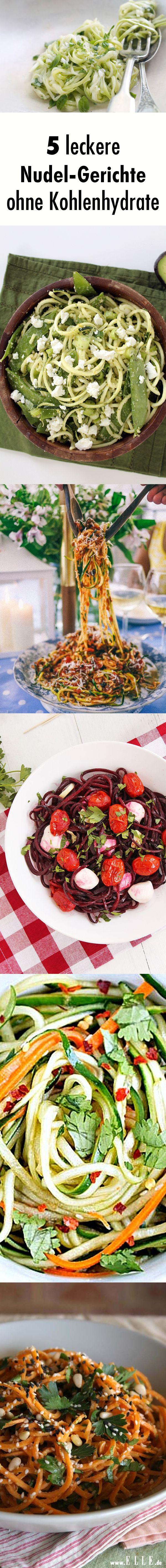 Gemüsenudeln: 5 Rezepte für Nudeln ohne Kohlenhydrate