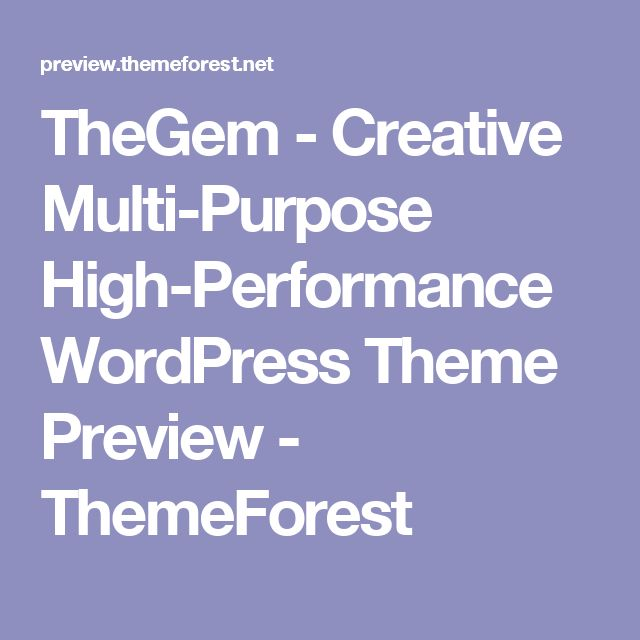 TheGem - Creative Multi-Purpose High-Performance WordPress Theme Preview - ThemeForest
