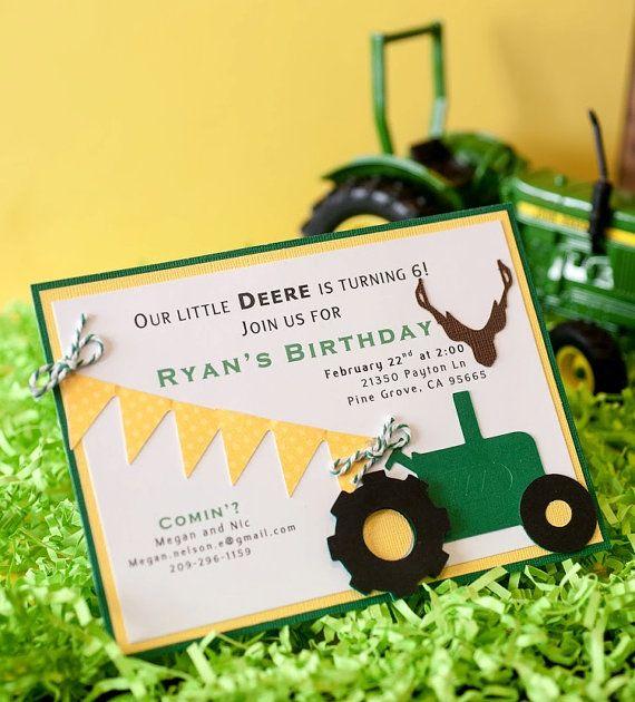 17 Best ideas about Tractor Birthday Invitations – Printable John Deere Birthday Invitations