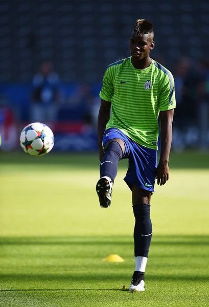 Paul Pogba of Juventus warms up during a Juventus training session on the eve of the UEFA Champions League Final match against FC Barcelona at Olympiastadion on June 5, 2015 in Berlin, Germany.