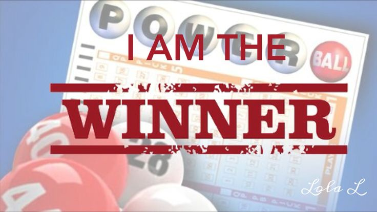 I am the jackpot lottery winner!
