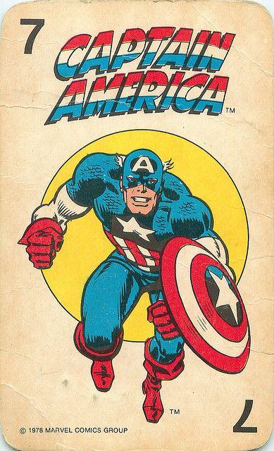 Marvel Comics Superheroes Card Game   Captain America
