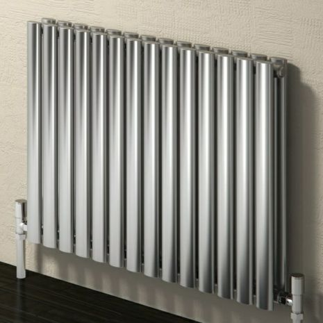 The Reina Nerox Horizontal Double Radiator is a stylish stainless steel radiator. High heat output. Available in multiple sizes and in polished or satin finish.