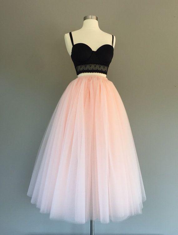 Tulle skirt, floor length tulle skirt, light blush tulle skirt, adult tulle skirt, ANY COLOR