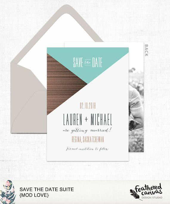Save the Date Card & Envelope Mod Love