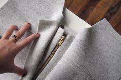Beautiful sew-along for a neat zipper front opening: Cascade Sew-Along: Front Bands View B | Grainline Studio