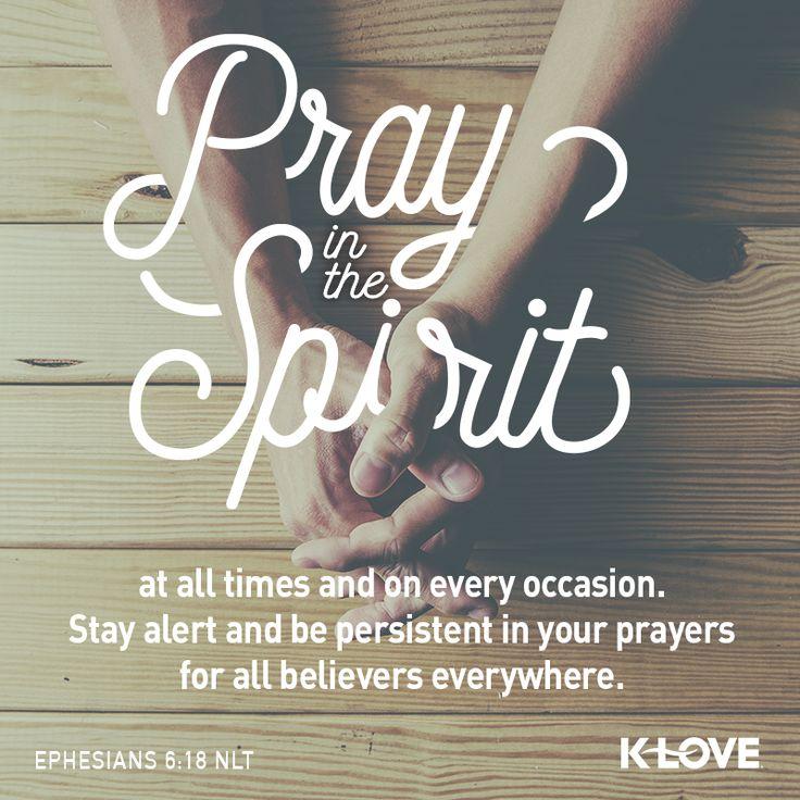 VOTD scripture persistent prayer Praying in the spirit