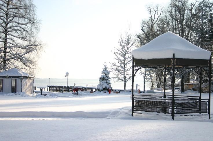 Winterwetter am #Chiemsee in #Prien #Hotel #Chiemgau #Bayern