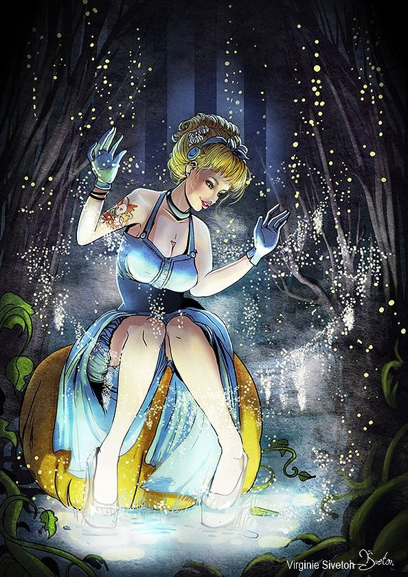 Sexy disney princess pin up girls