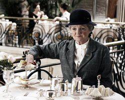 Miss Marple having tea