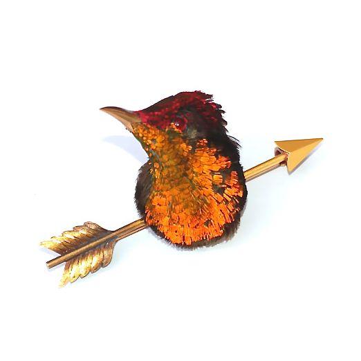 Taxidermy Hummingbird Brooch - England, ca. 1880.: Hummingbird Jewelry, Estate Jewelry, Poison Ring, Antique Jewelry, Real Hummingbird, Hummingbird Brooch, Taxidermy Hummingbird, Hummingbirds, Hummingbird Heads