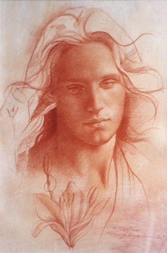 Ulisse Sartini, Estudio para angel anunciador