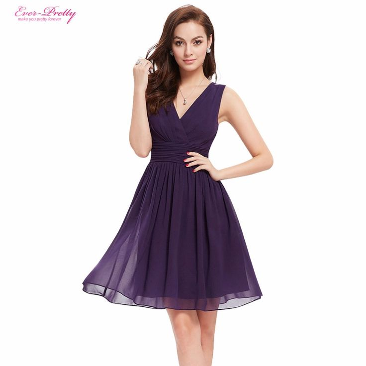 Cheap dress graduation party, Buy Quality dresses party evening directly from China party dresses suppliers Suppliers: Bridesmaid Dresses EP03989 Ever Pretty Double V-neck White Short Fashion Little White Dresses 2016 Bridesmaid Dresses