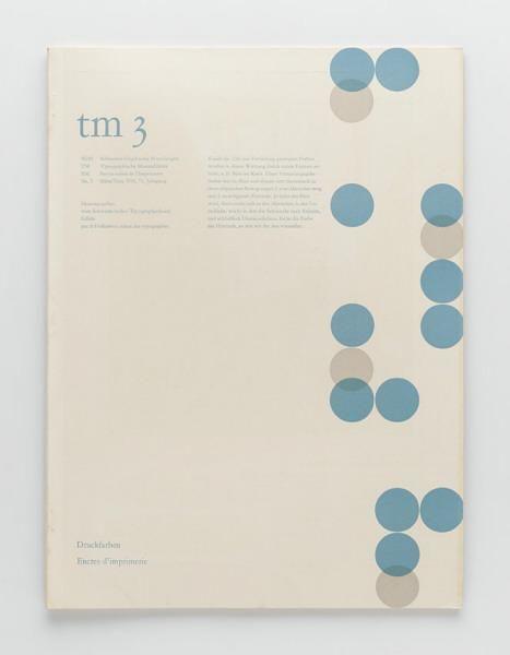 TM Typographische Monatsblätter, issue 3, 1956. Cover designer: Guido Gilli