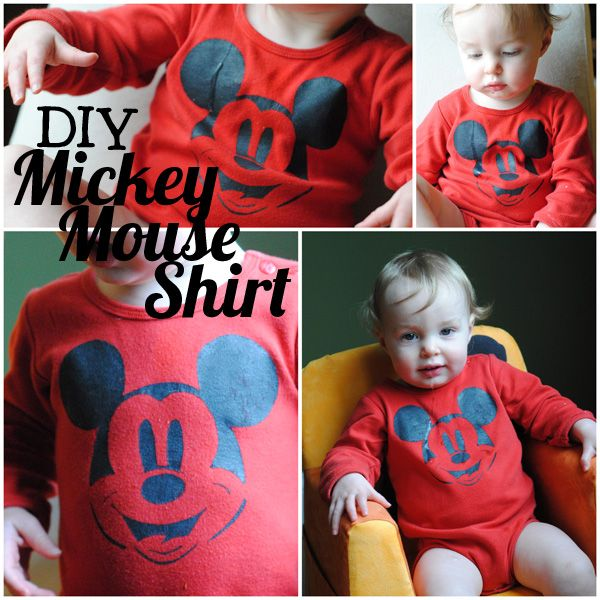 DIY Mickey shirt