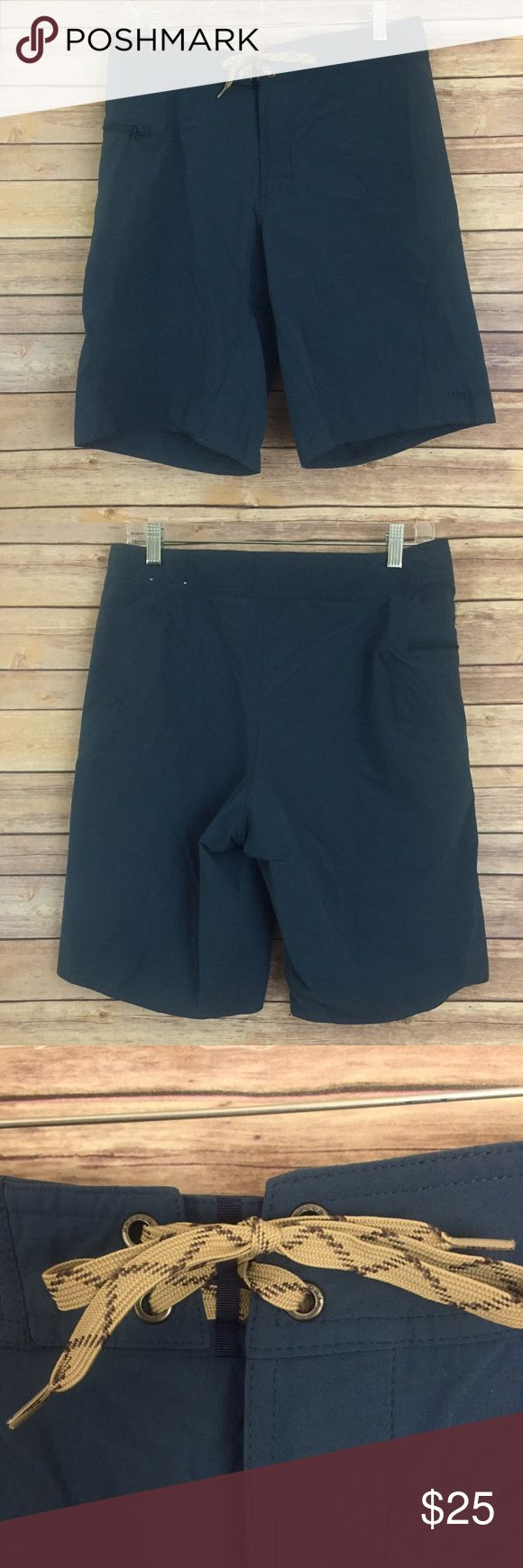 Men's Patagonia outdoor shorts size 32 These men's Patagonia outdoor shorts are a dark teal blue color and are a size 32.  They are in excellent pre owned condition. Patagonia Shorts