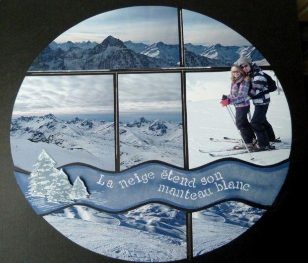 Du haut des montagnes avec le Gabarit du kit Be Espère par Béatrice Raymond