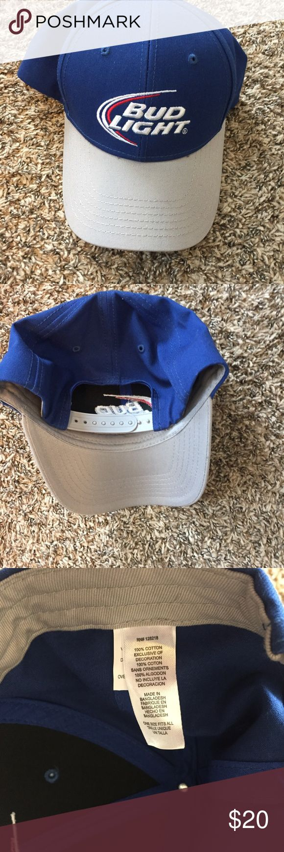 Mens Vintage Bud Light Bud Weiser Blue Snapback Mens vintage bud light snap back   Good condition!    Size mens One size bud light Accessories Hats