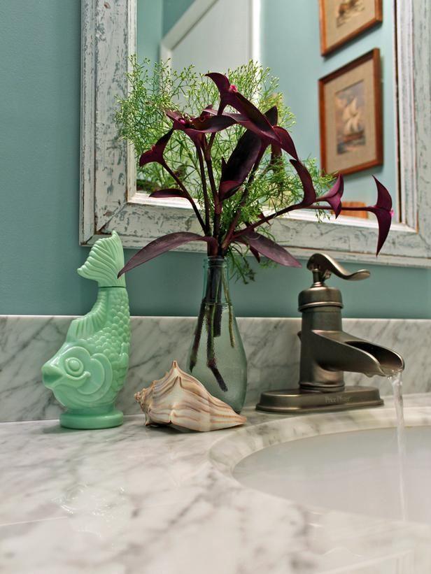 Beach House Bathroom Vanity Sink Area: Granite Color, Beach Houses, Bathroom Vanities, Beach House Bathroom, Bathroom Ideas, Vanities Sinks, Bathroom Decor, Beaches House Bathroom, Beaches Cottages