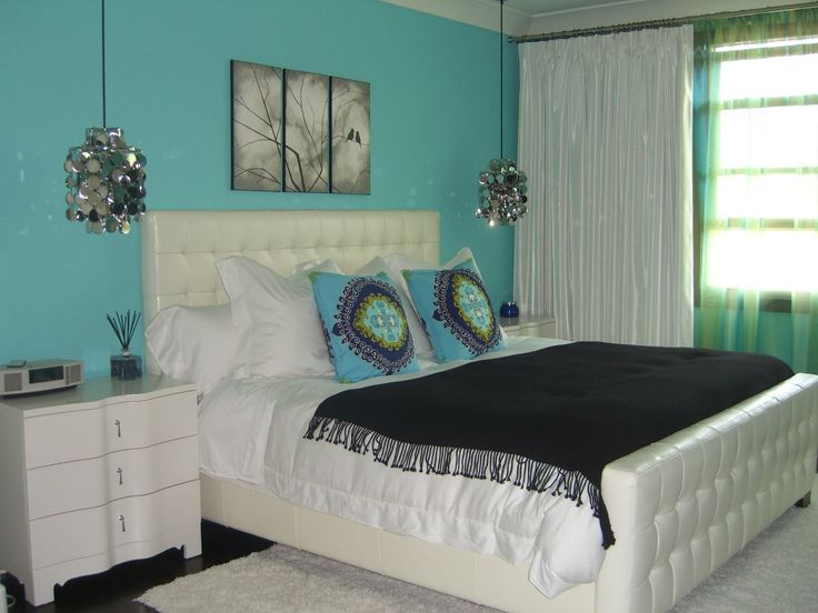 Turquoise Decor | Make A Bold And Bright Statement With Turquoise Wall  Color Turquoise .