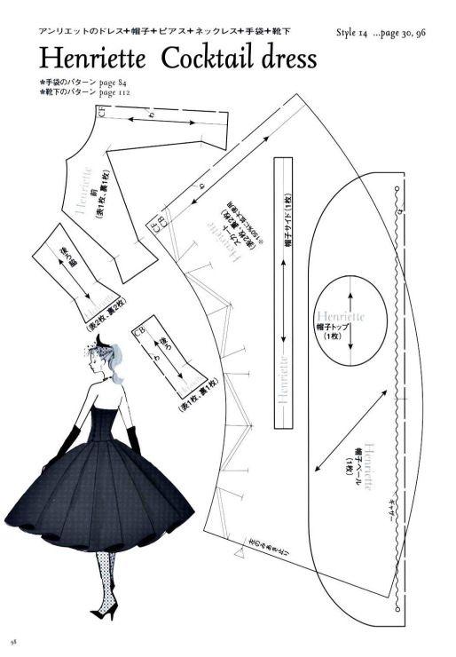 Henriette Cocktail Dress Pattern - Page 1 of 3