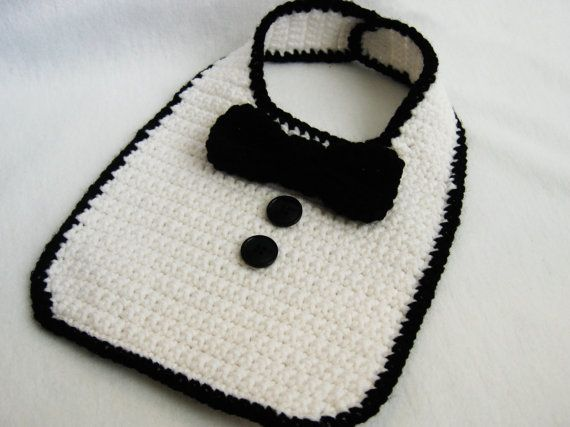 CROCHET PATTERN Tuxedo Bib - to buy - Just wanted the picture for inspiration!