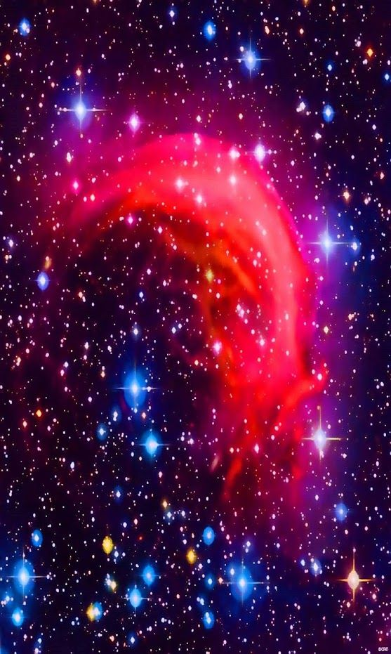 The #DolphinNebula is a red - white star of magnitude 3.3, 176 light-years from Earth. It is the brightest star in Dorado. Beta Doradus is a notably bright Cepheid variable star. It is a yellow-tinged supergiant star that has a minimum magnitude of 4.1 and a maximum magnitude of 3.5. 1040 light-years from Earth, Beta Doradus has a period of 9 days and 20 hours.