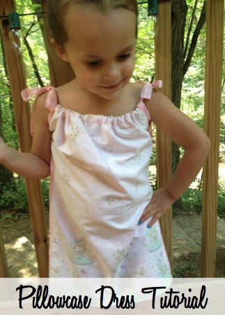 Learn how to make a pillowcase dress. Simple tutorial to help even the non-crafty person make a cute and inexpensive dress!