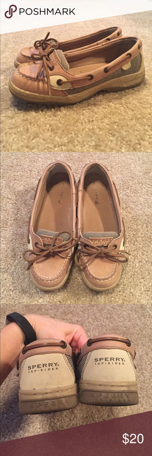 Sperry Boat Shoes Kids US3 Sperry Boat Shoes Kids US3 (fits like a US women's 5); Tan and Brown; EUC Sperry Top-Sider Shoes Flats & Loafers