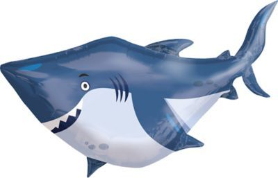 Under the Sea Shark Balloon 40in x 32in - Giant | Party City