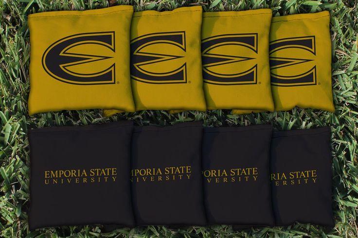Emporia State Hornets Team Logo Cornhole Replacement Bag Set