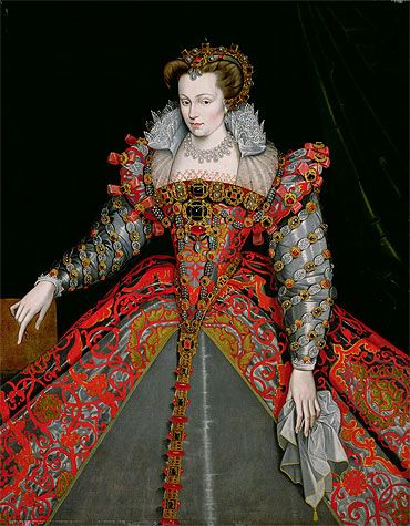 Portrait of Louise de Lorraine-Vaudémont by François Clouet, ca 1570 France, MFA Houston