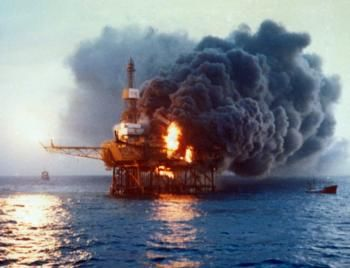 A series of violent explosions and a fire destro the Piper Alpha oil platform in the North sea. Only 62 of 229 personnel on board survive.