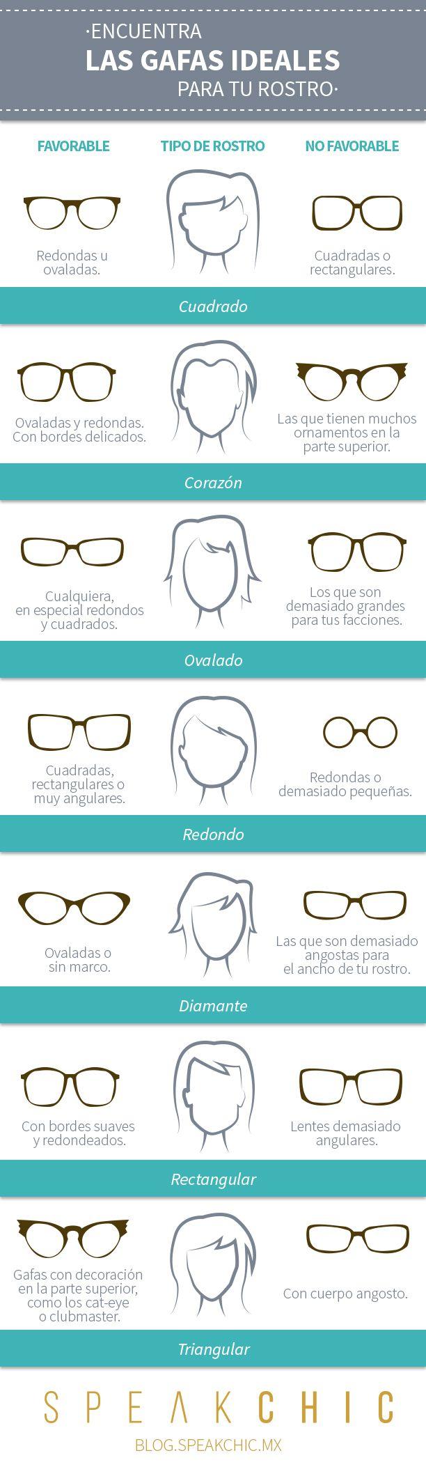Los mejores lentes para la forma de tu rostro.   Lee más en: bit.ly/1E98vKz