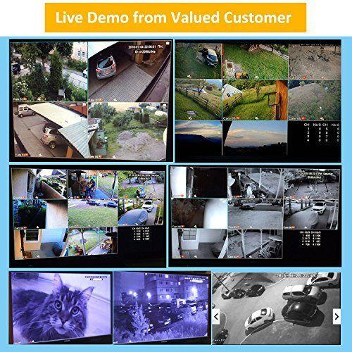DEFEWAY 8CH 1080N Security DVR 8 1200TVL 720P HD Outdoor Video Surveillance Camera System with No Hard Drive