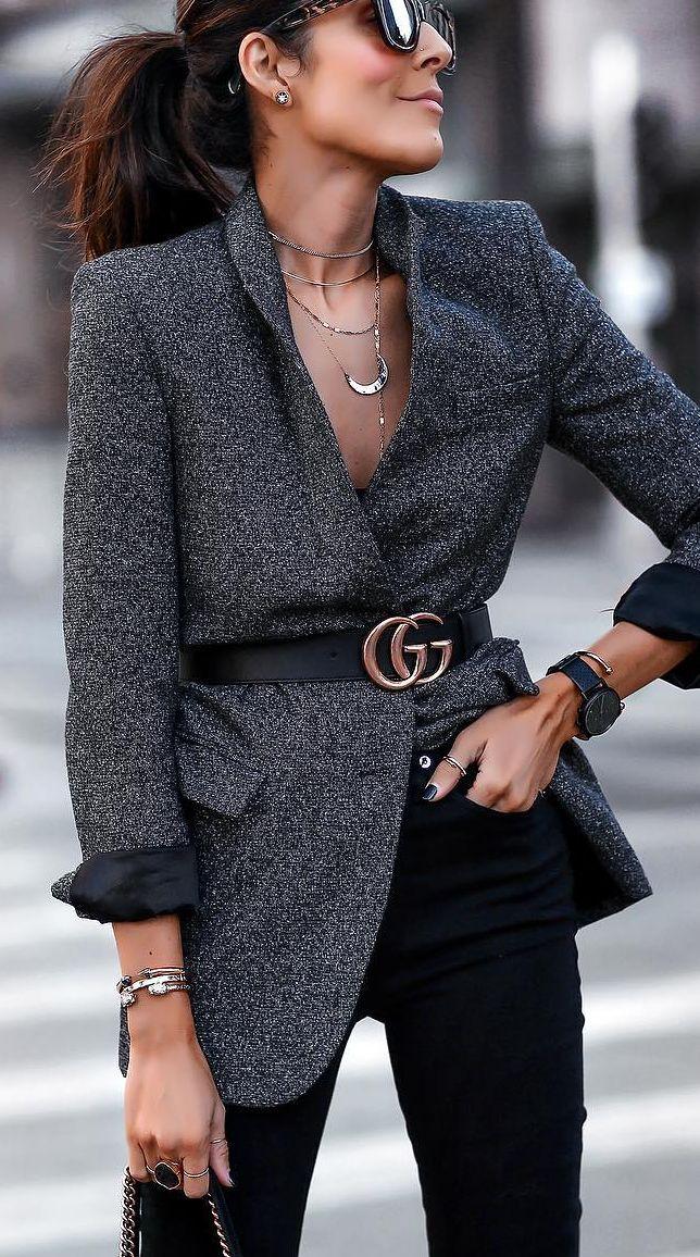 grey boyfriend blazer live this style