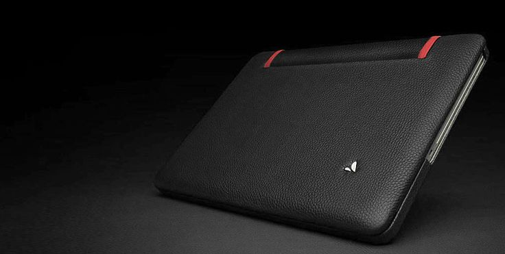 Leather suit for MacBook Pro 15'' 2011 Edition, in Black and Red of course