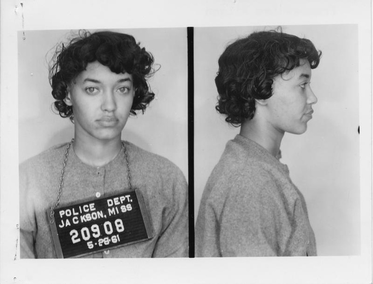 Her name is Frances Wilson and she was a Freedom Rider.    Frances, a 23 year old student at Tennessee State University, was expelled for her participation in the Freedom Rides along with 14 other students. In 2008, the expelled students all received honorary doctorates from Tennessee State University. Frances received her honorary degree in 2011.