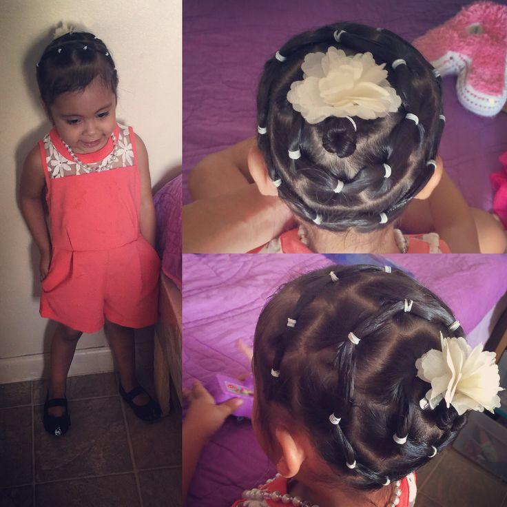 My princess☺️☺️ #aleah #hairdo #flower