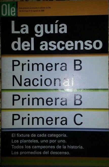 #PrimeraPlana Guía Olé del Ascenso 2000/2001 @Diario Ole