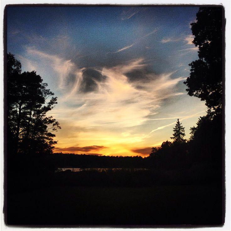Magiskt solnedgång...